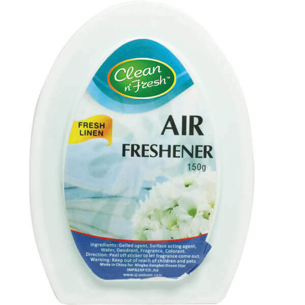 Solid gel air freshener