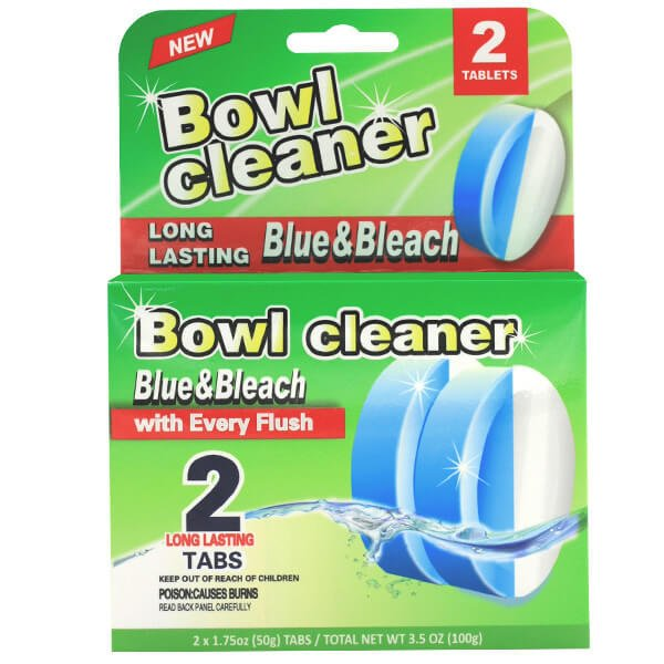 Bowl cleaner bule and bleach
