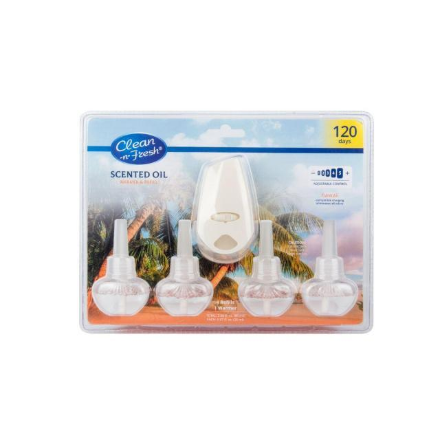 Air freshener plug in with 4 refills