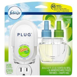best plugin air freshener Febreze Plug In Air Freshener Scented Oil Refill, Gain Original Scent Set, 3 Count