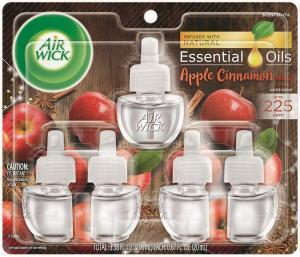 best plug in air freshener Air Wick plug in Scented Oil 5 Refills, Apple Cinnamon Medley, (0.67 Ounce (Pack of 5)), Essential Oils, Air Freshener