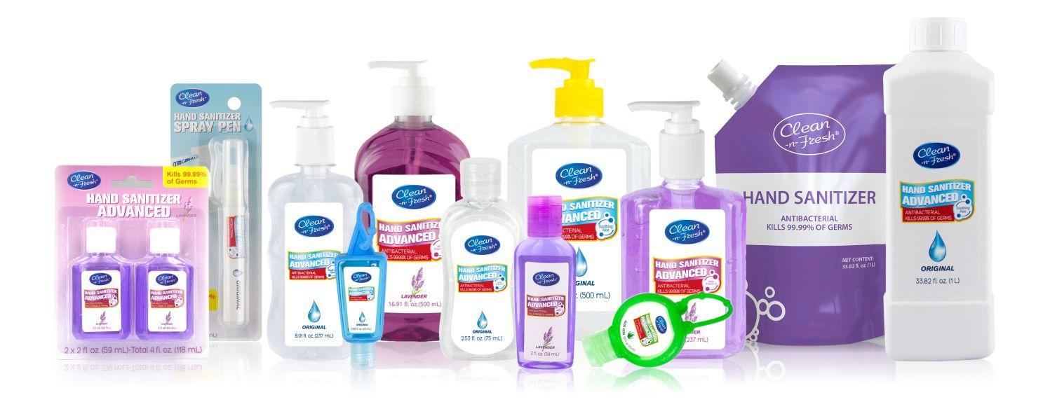 All Size Alcohol Based Hand Sanitizer