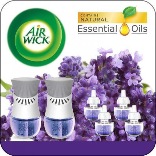 Air Wick Plug in home air freshener Scented Oil Starter Kit, 2 Warmers + 6 Refills
