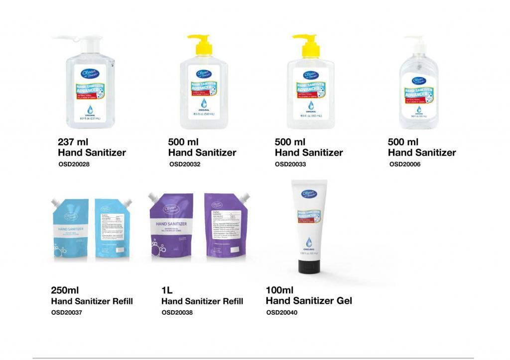 Hand Sanitizer gel supplies