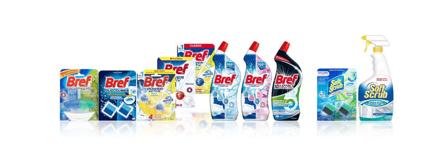 toilet cleaner brand Bref & Soft Scrub