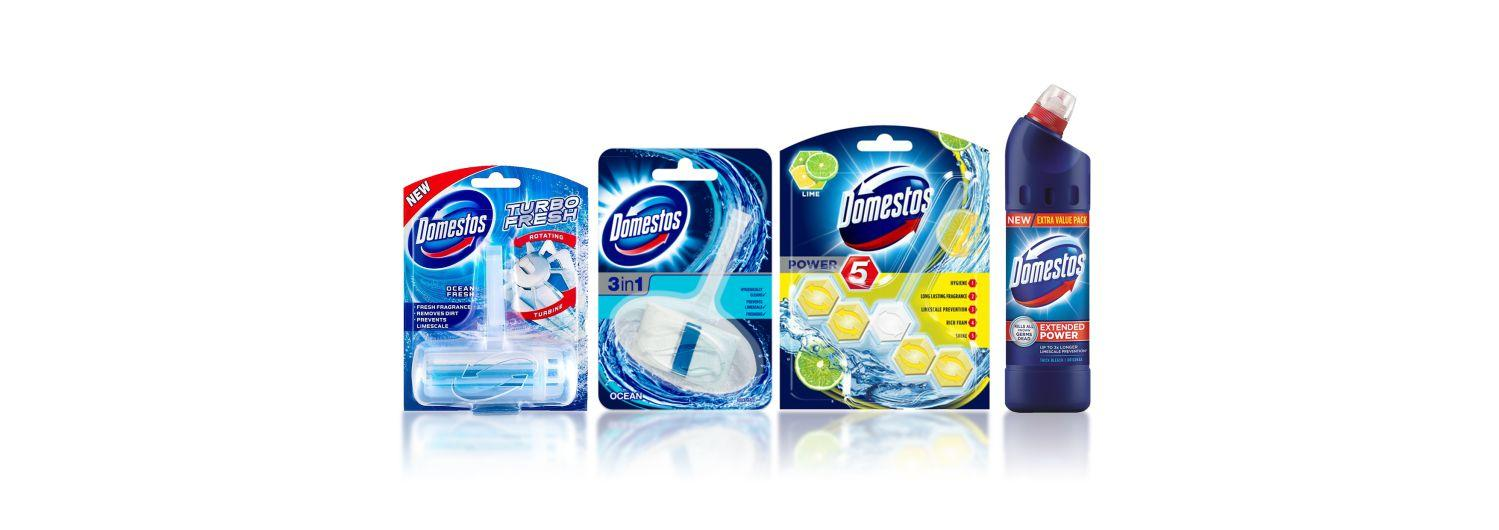 toilet cleaner brand Domestos