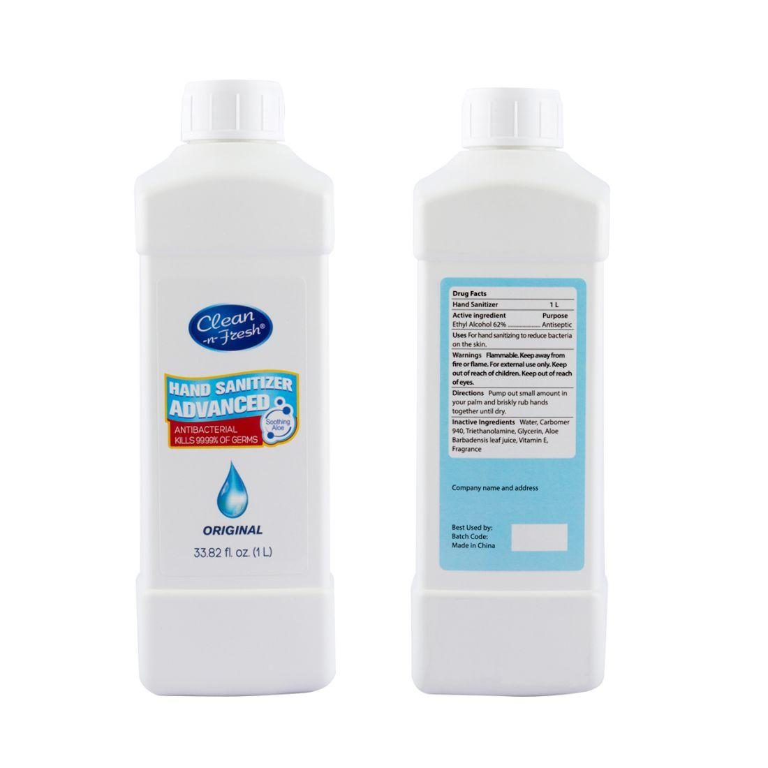 1000ml waterless hand sanitizer 1 litre