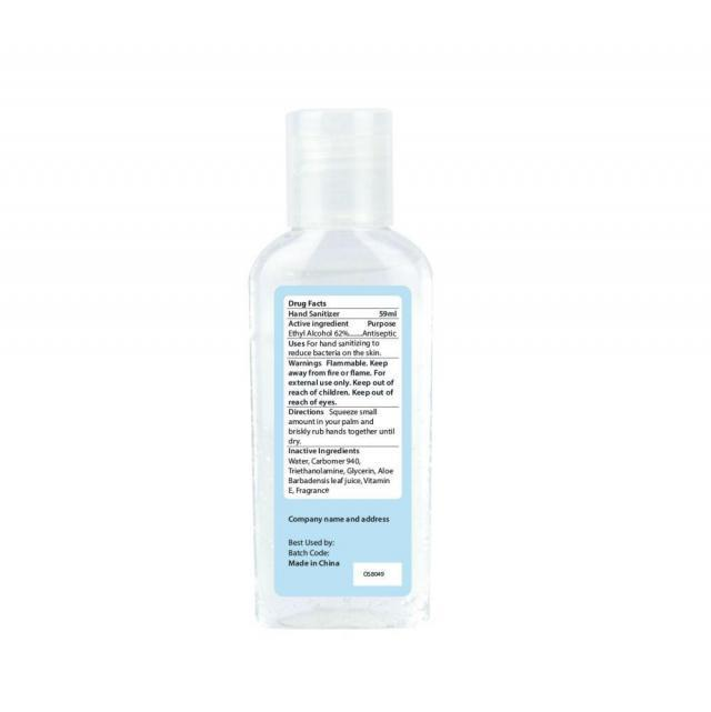 60ml natural organic hand sanitizer