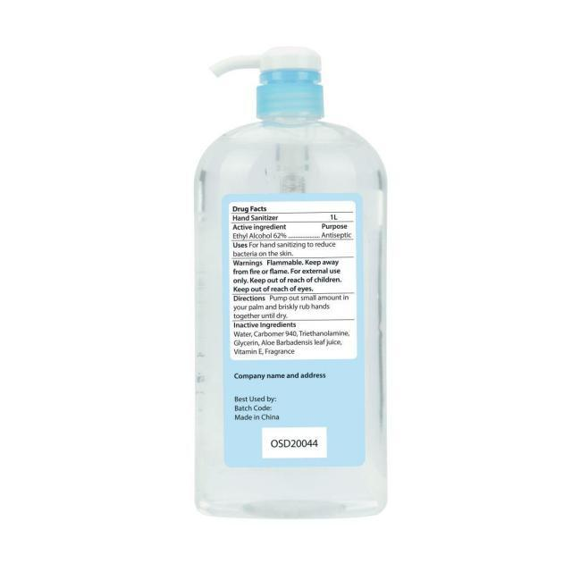 1000ml 70% alcohol hand sanitizers