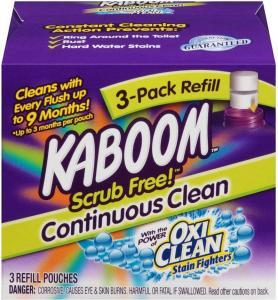 best toilet cleaner Kaboom Scrub Free! Toilet Bowl Cleaner System with 2 Refills,Pack of 1