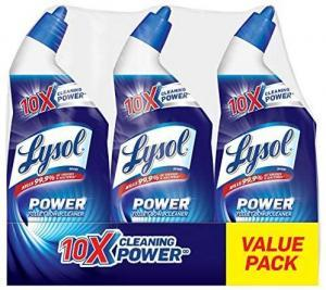 best toilet cleaner Lysol Lysol Power Toilet Bowl Cleaner, 10x Cleaning Power, 3 Count