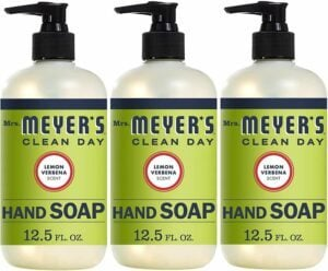 Mrs. Meyer's Clean Day Liquid Hand Soap, Lemon Verbena Scent, 12.5 Fl Oz, Pack of 3