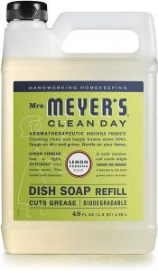 Mrs. Meyer's Liquid Dish Soap Refill, Lemon Verbena, 48 OZ (Pack - 1)