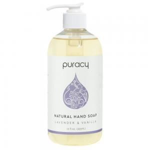 Puracy Natural Gel Hand Soap Refill, Lavender & Vanilla, Moisturizing Liquid Hand Wash, 64 Ounce