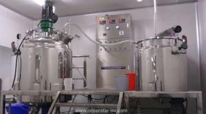 reaction of hand sanitizer production